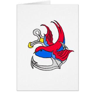 Traditional Sailor Tattoo design Greeting Card