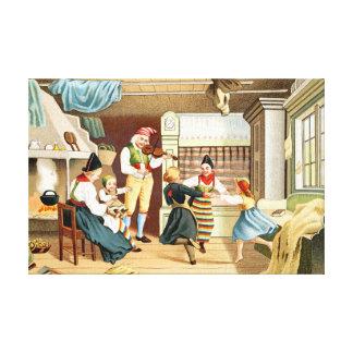 Traditional Scandinavian family Canvas Print