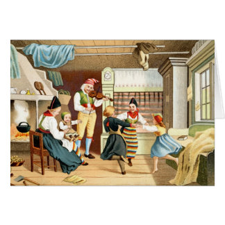 Traditional Scandinavian family Card