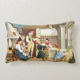 Traditional Scandinavian family Throw Pillow