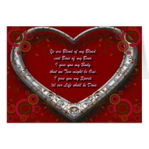 Traditional Scot Wedding Vow - Blood of my Blood