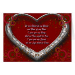 Traditional Scot Wedding Vow - Blood of my Blood Greeting Card