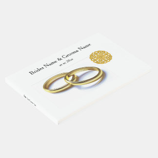 Traditional Scottish and Celtic Wedding Ring Theme Guest Book
