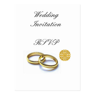 Traditional Scottish and Celtic Wedding Ring Theme Postcard
