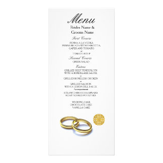 Traditional Scottish and Celtic Wedding Ring Theme Rack Card