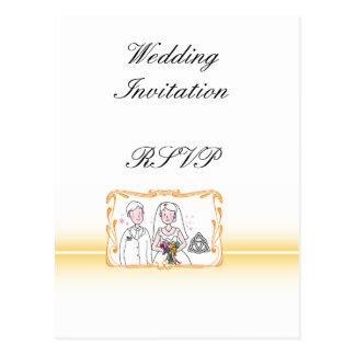 Traditional Scottish and Celtic Wedding Theme Postcard