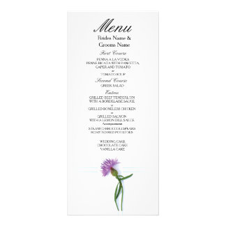 Traditional Scottish and Celtic Wedding Thistle Th Rack Card