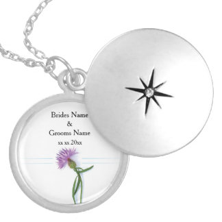 Traditional Scottish and Celtic Wedding Thistle Th Silver Plated Necklace