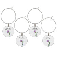 Traditional Scottish and Celtic Wedding Thistle Th Wine Charm