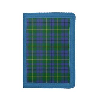 Traditional Scottish Johnston Tartan Plaid Trifold Wallets