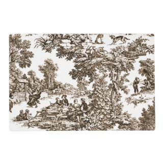 Traditional  Sepia Toile Placemat