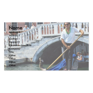 Traditional singing gondolier, Venice, Italy Business Card Templates