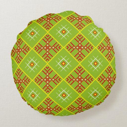 Traditional Slavic Ornaments Round Throw Pillow Zazzle