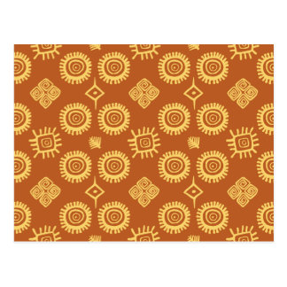 Traditional south american pattern postcard