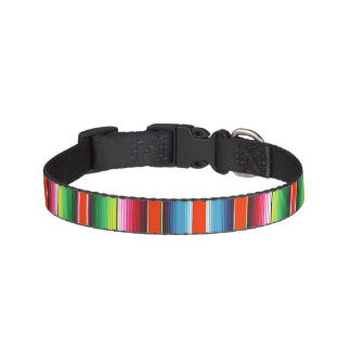 Traditional Spanish Serape Fiesta Mexican Blanket Pet Collar