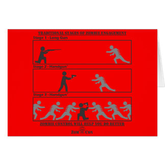 Traditional Stages of Zombie Engagement Greeting Cards