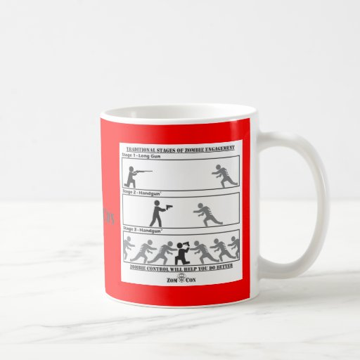 Traditional Stages of Zombie Engagement Mug