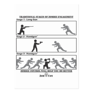 Traditional Stages of Zombie Engagement Postcard
