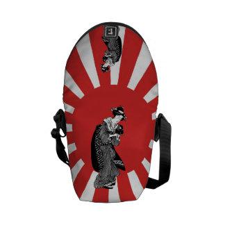 Traditional style Japanese ukiyoe woman Messenger Bag