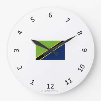 Traditional Swahili Clock with Tanzanian Flag