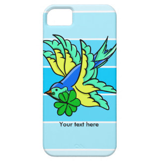 Traditional Swallow Tattoo Cartoon With Shamrock iPhone SE/5/5s Case