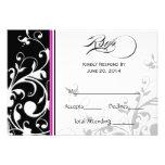Traditional Swirls | Wedding RSVP Card