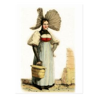 Traditional Swiss Costume of Bern Postcard