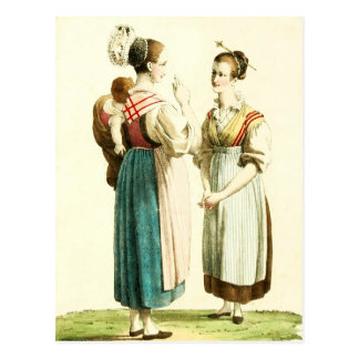 Traditional Swiss Costume of the Canton of Uri Postcard