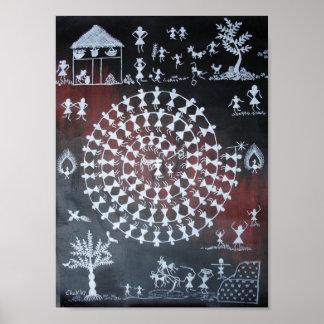 Traditional Taarpa Dance Print
