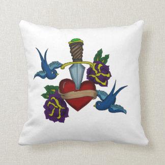 Traditional Tattoo Design Pillow