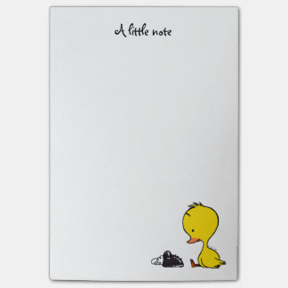 traditional telephone & cute ducky post-it notes