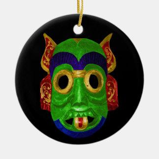 Traditional Thai Mask Christmas Ornaments