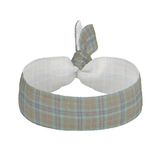Traditional Thomson Tartan Plaid Head Band Hair Ties