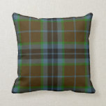 "Traditional Thomson Tartan Plaid Pillow<br><div class=""desc"">Great looking blue,  brown,  and green tartan plaid accent pillow,  done in the Thomson family pattern. Adds a stylish touch to any room of the house or office. Customize to add text.  Makes a great gift idea.</div>"