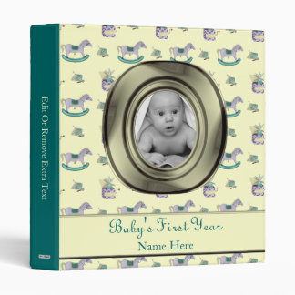 Traditional Toys/Pastel (Baby Shower) 3 Ring Binder