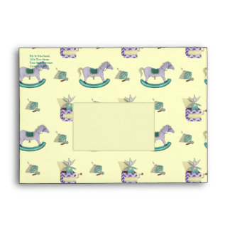 Traditional Toys/Pastel (Baby Shower) Envelope