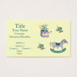 Traditional Toys/Pastel Business Card