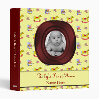 Traditional Toys/Primary Colours (Baby Shower) 3 Ring Binder
