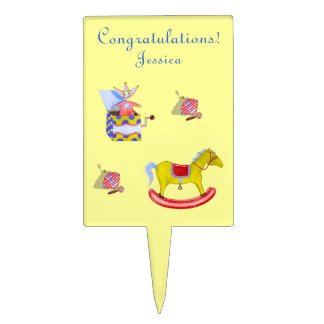 Traditional Toys/Primary Colours (Baby Shower) Cake Topper