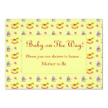 Traditional Toys/Primary Colours (Baby Shower) 4.5x6.25 Paper Invitation Card