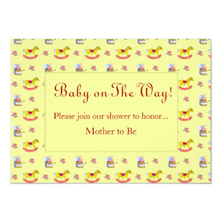 Traditional Toys/Primary Colours (Baby Shower) Invitation