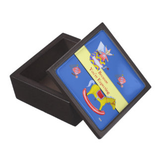 Traditional Toys/Primary Colours (Baby Shower) Keepsake Box