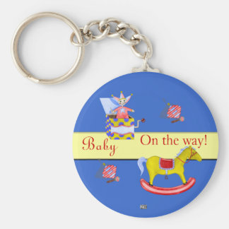 Traditional Toys/Primary Colours (Baby Shower) Keychain