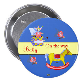 Traditional Toys/Primary Colours (Baby Shower) Pinback Button