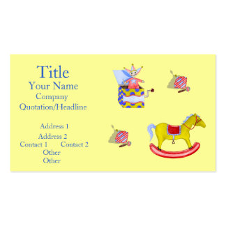 Traditional Toys Primary Colours Business Cards