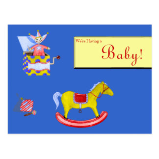 Traditional Toys/Primary Colours Postcard