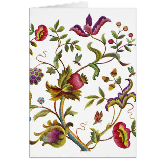 Traditional Tree of Life Embroidery Pattern Card