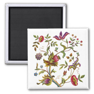 Traditional Tree of Life Embroidery Pattern Magnet