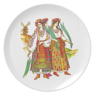 Traditional Ukrainian Dress Decorative Plate