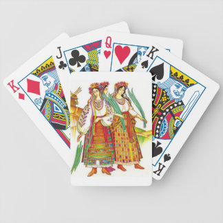 Traditional Ukrainian Dress from Kyivschyna Bicycle Playing Cards